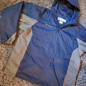 Columbia full Zipper mens windbreaker jacket L